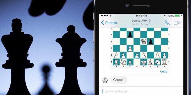 Zahrajte si šachy s kamarádem: Facebook Messenger obsahuje skrytou hru