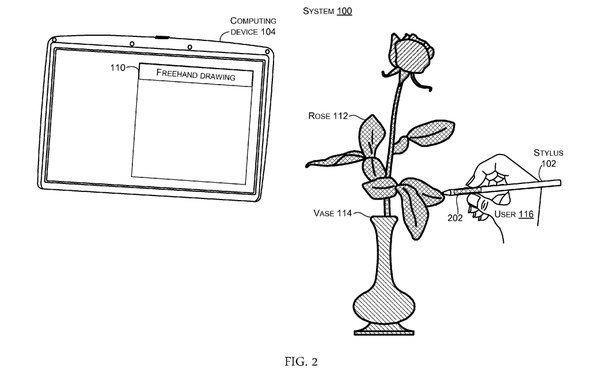 Nové patenty Microsoftu: Stylus schopný kopírovat barvy objektů a chytřejší dlaždice