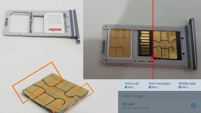 galaxyS7 SIM microSD kombo