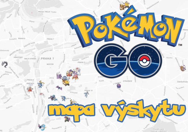 Mapa výskytu Pokémonů