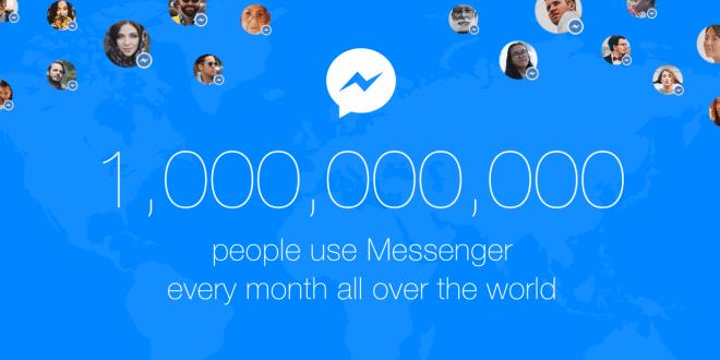 Facebook Messenger měsíčně používá více než miliarda uživatelů