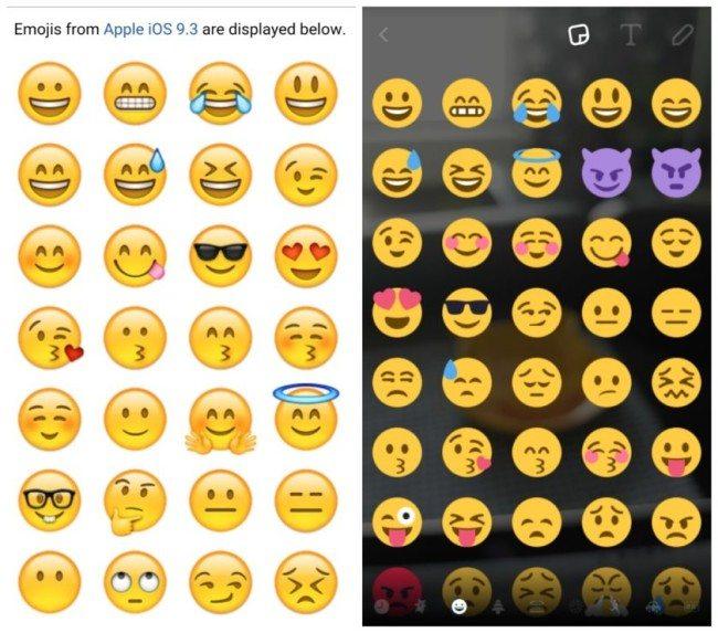 iOS vs Android smajlíci