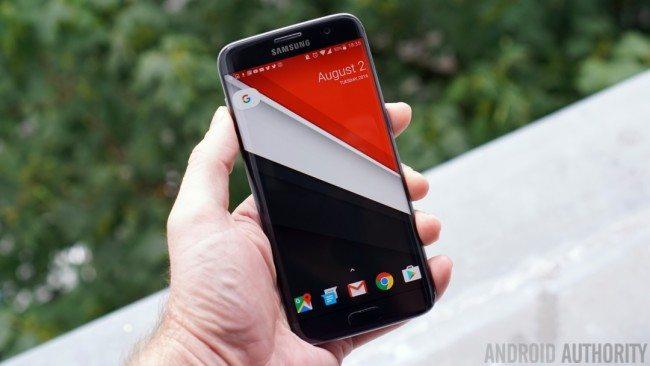 Nexus-Launcher-home-screen-Galaxy-S7-Edge