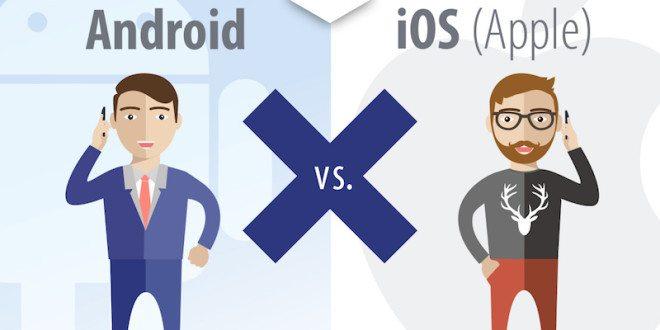 Android vs. iPhone: Kdo víc provolá a prodatuje? (infografika O2)