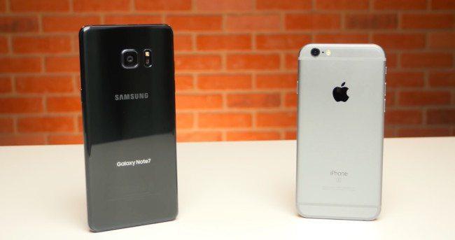 Samsung Galaxy Note7 vs. iPhone 6s