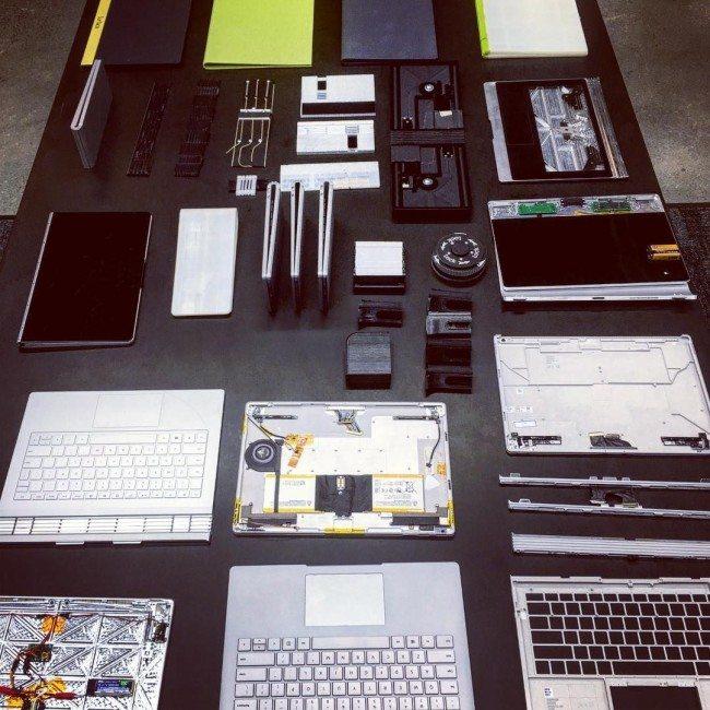 Různé prototypy Surface Booku