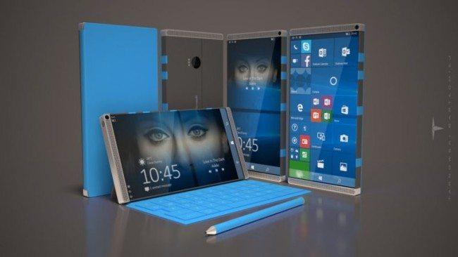 Fanouškovský koncept Surface Phone