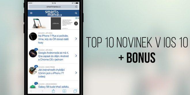 iOS 10 je plný novinek. Máme pro vás přehled deseti nejlepších