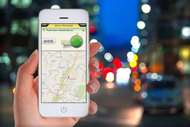 Mobilní aplikace pražské taxislužby AAA Taxi pro Android a iOS