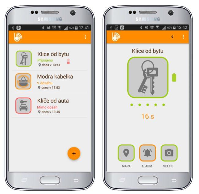 Prostředí mobilní aplikace
