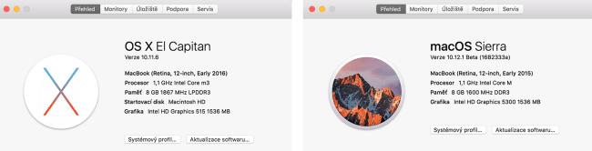 """Hardwarová výbava letošního a loňského 12"""" MacBooku"""