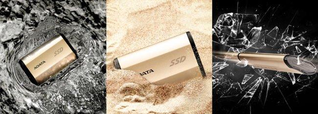 Tento SSD disk se nebojí vody, prachu ani písku, a snese i nárazy