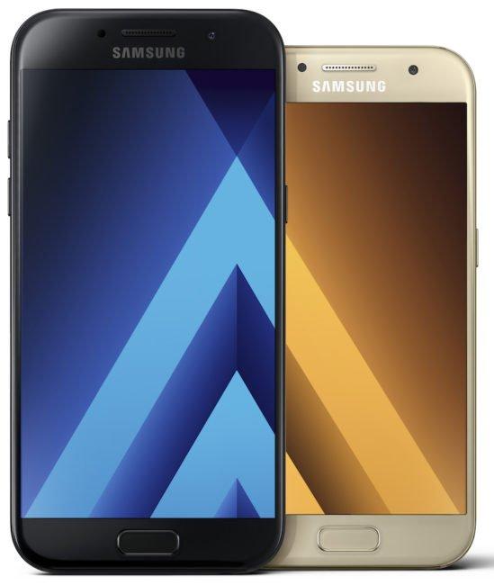 Galaxy A5 a Galaxy A3 2017