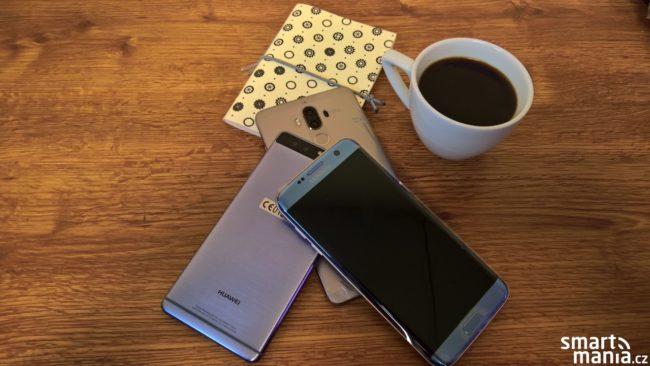 Galaxy S7 edge, Huawei P9 a Huawei Mate 9