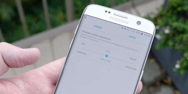 Android 7.0 na Galaxy S7 (edge) umí přepnout na Full HD. Šetří tím energii