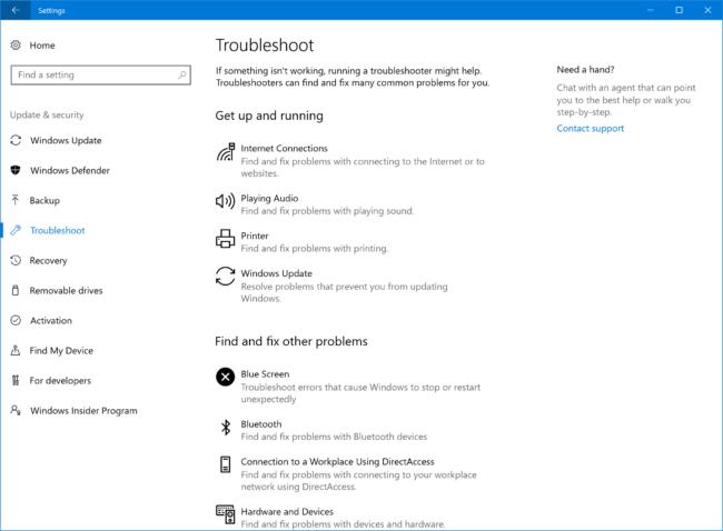 settings-troubleshoot