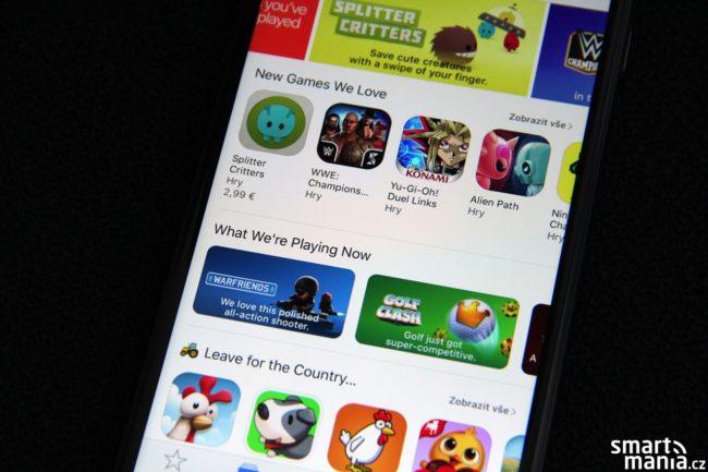 Hlavní obrazovka App Store