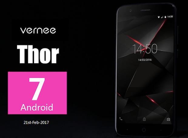 Vernee Thor se dočkal aktualizace na Android 7.0