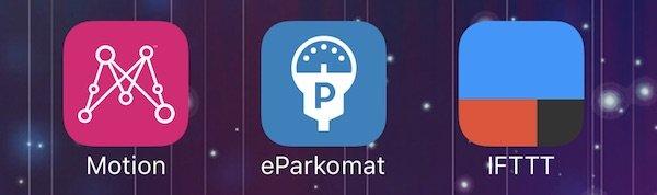 Aplikaci Motion (Chytré auto) nově propojíte s eParkomatem a IFTTT