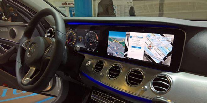 Koncept německého policejního auta: Lumia, Continuum a palubní displej místo počítače