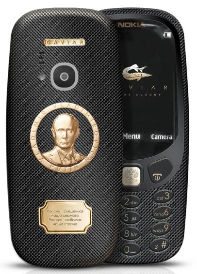 Nokia 3310 přichází také v super-putinské verzi. Nabídne zlato i titan