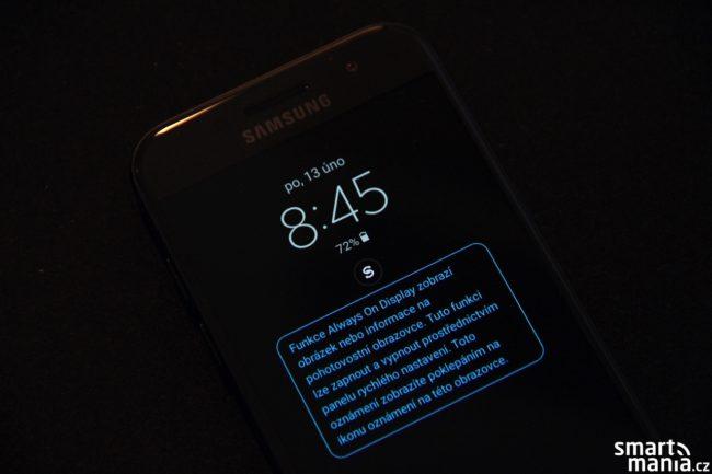 funkce AlwaysON na Galaxy A3 (2017)
