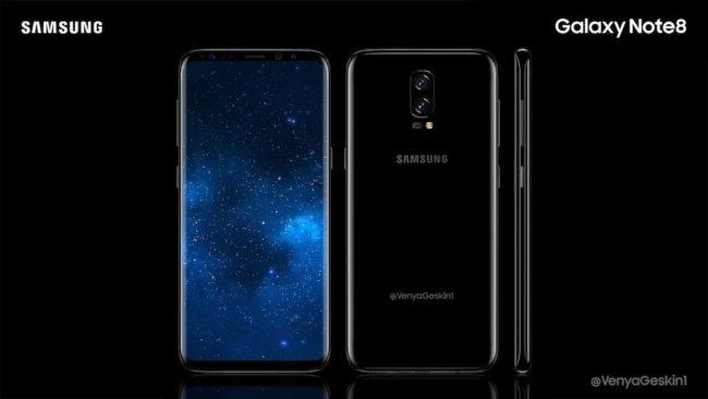 Koncept Samsungu Galaxy Note8