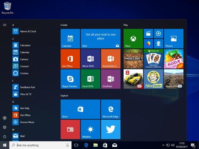 """V testovací verzi Windows 10 Cloud se již nacházejí ikonky """"plnotučných"""" Office 2016"""