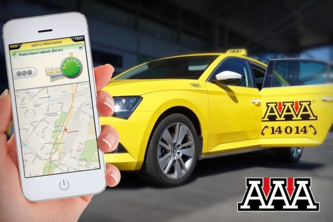 AAA Taxi aplikace pro Android a iOS
