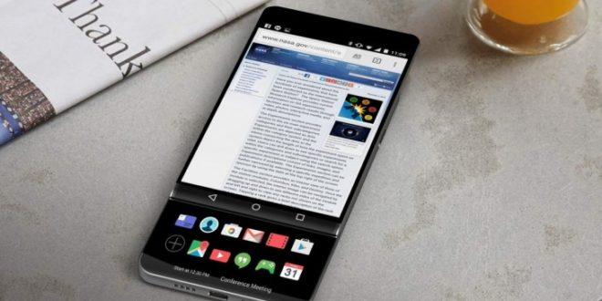 """Povedený koncept LG V30: """"vysouvák"""" se sekundárním displejem místo klávesnice"""