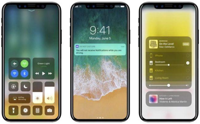 iPhone 8 s iOS 11 na jednom z nejpovedenějších konceptů