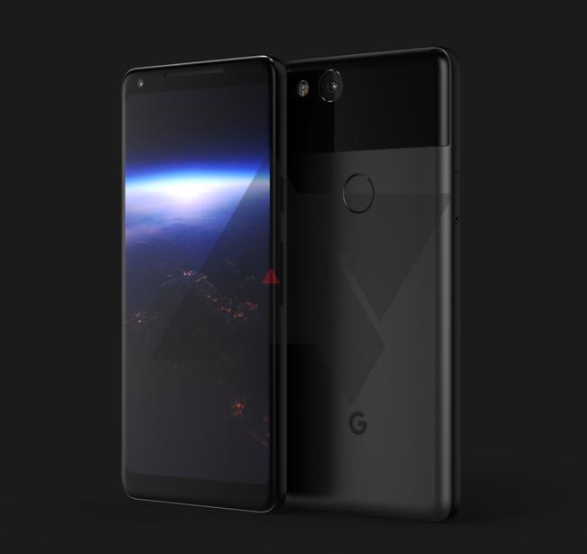 """Takto by měl vypadat Google Pixel XL 2017 se 6"""" displejem a čtečkou otisků na zádech"""