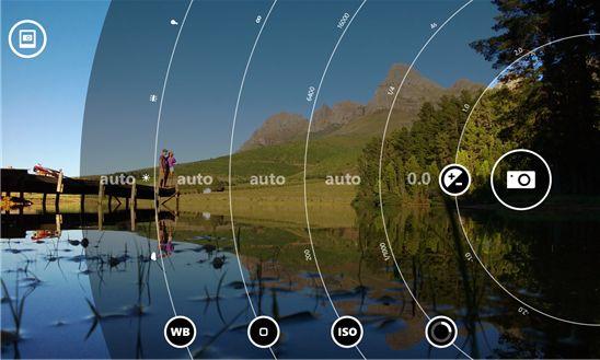 Lumia Camera UI na mobilních Windows