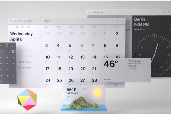 Futuristický koncept systému Windows