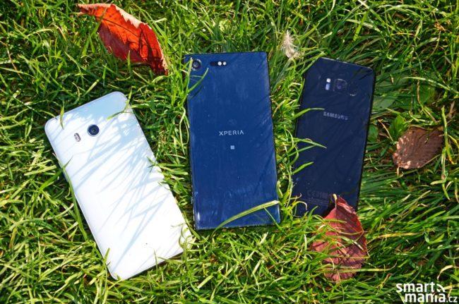 Hlavní hvězdy dnešního fotosouboje: HTC U11, Sony Xperia XZ Premium a Samsung Galaxy S8