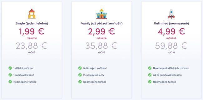 KidsMonitor.io je aktuálně možné používat zcela zdarma. Ostrá verze bude zpoplatněna podle počtu zařízení.