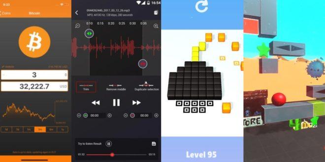 Profesionální diktafon, hrátky s fyzikou a další zajímavé aplikace a hry zdarma