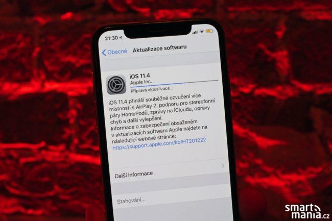 Apple dnes uvolnil novou verzi systému iOS 11.4