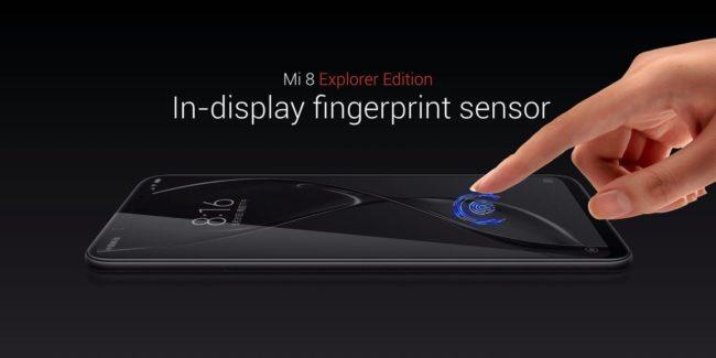 Xiaomi Mi 8 Explorer edition s čtečkou otisků v displeji