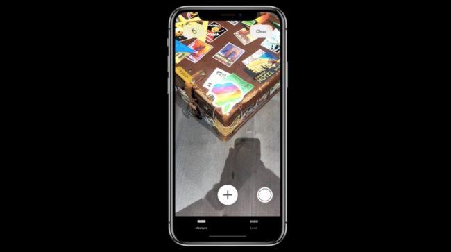 Takto vypadá aplikace Měření (Measure), která vám změří snímané objekty
