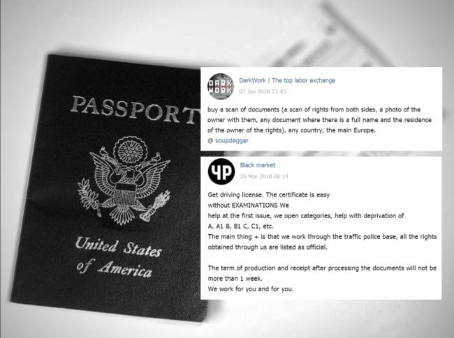 Na černém trhu můžete pořídit například pasy, řidičské průkazy a celou řadu dalších nelegálních dokumentů