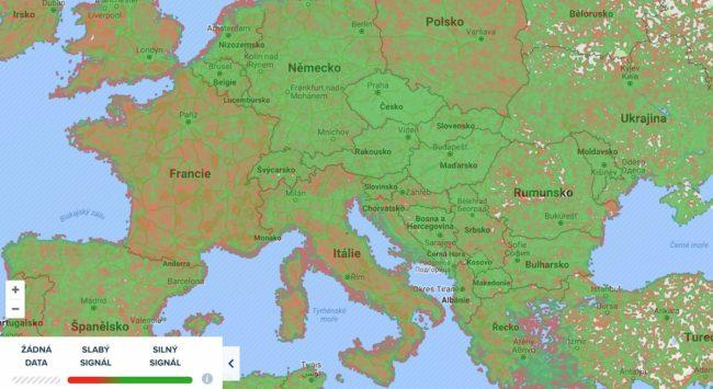 Kvalita mobilního signálu EU