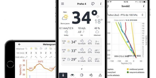 Aplikace ČHMÚ nyní můžete používat také na iPhonech