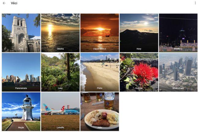 Automatické třídění snímků díky umělé inteligenci v Google Fotkách