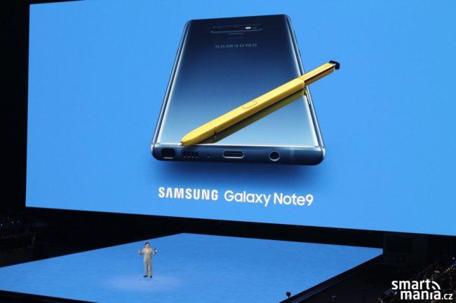Představení Samsungu Galaxy Note9 na tiskové konferenci v New Yorku