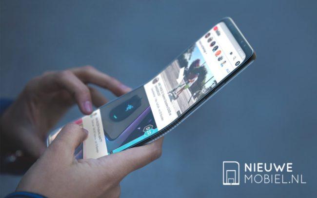 I takhle by mohl vypadat ohebný smartphone od Samsungu (fanouškovský koncept)