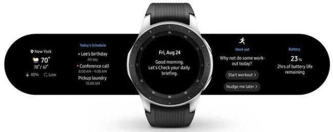 Takto může vypadat denní přehled na Galaxy Watch