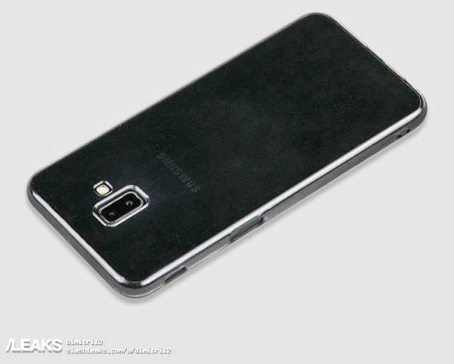 Maketa Samsungu Galaxy J6+ (Prime) odhaluje čtečku otisků na boku a duální fotoaparát