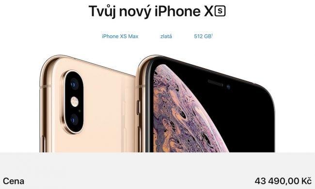 512GB iPhone Xs Max nelze nazvat jinak než předražený