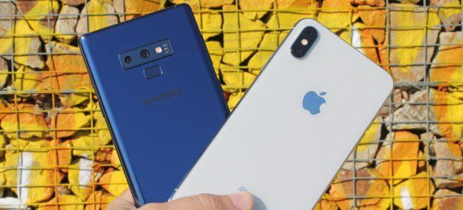 iPhone Xs vs. Samsung Galaxy Note 9